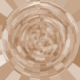 Brown sphere background Stock Images