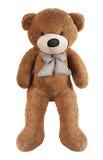 Brown-Spielzeugbär lokalisiert auf Weiß Lizenzfreies Stockbild