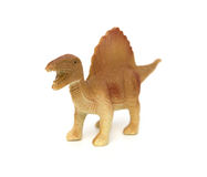 Brown spinosaurus toy Royalty Free Stock Images