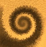 Brown spiraL Stock Photography