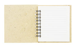 Brown spiral notebook isolated on white Stock Photography