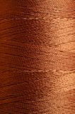 Brown Spool of Thread Macro Royalty Free Stock Photo
