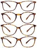 Brown spotted glasses isolated on white Stock Photo