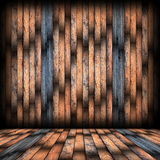 Brown spruce planks finishing on interior backdrop Royalty Free Stock Photography
