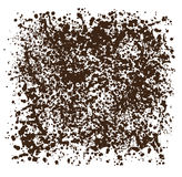 Brown square background of drops. Abstract, brown square background of drops royalty free illustration
