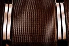 Brown square block texture with metal Royalty Free Stock Images