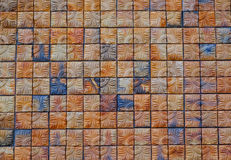 Free Brown Square Brick  Wall Background, Abstract Background. Royalty Free Stock Photo - 92455185