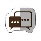brown square chat bubbles icon Stock Photography