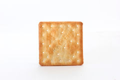 Brown square cracker Royalty Free Stock Photos