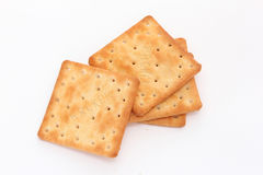 Brown square cracker Stock Image