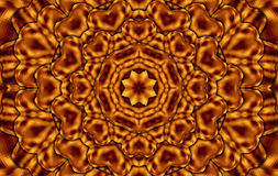Brown squares kaleidoscope. Brown mandala kaleidoscope for relax time Stock Image