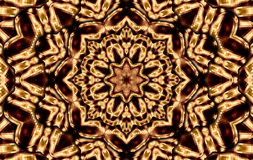 Brown squares mandala. Brown colors mandala kaleidoscope for relax time Stock Photos