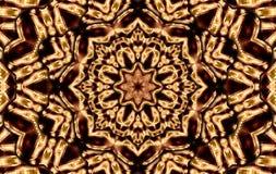 Brown squares mandala Stock Photos