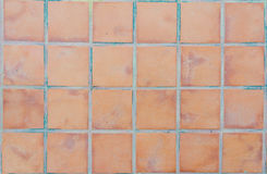 Brown Squares Pavement. Texture background close up Royalty Free Stock Image