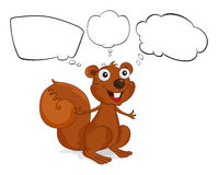 A brown squirrel with empty callouts Royalty Free Stock Images