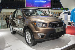 Brown ssangyong actyon car Royalty Free Stock Photo