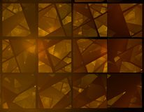 Brown stained glass fractal vector illustration