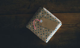 Brown Star Print Gift Box Royalty Free Stock Photo