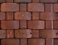 Brown stare rzemienne patki Obrazy Stock