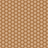 Brown stars with ornaments seamless background pattern Stock Photography