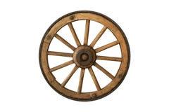 Brown stary drewniany koło Fotografia Royalty Free