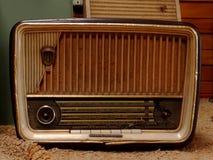 Brown Stary Retro Radiowy odbiorca Fotografia Royalty Free