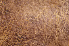 Brown stary rzemienny textured tło, moda projekt, tapeta Zdjęcie Stock