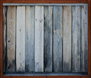 Brown starzał się drewno z ramą Fotografia Stock