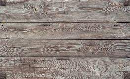 Brown starzał się sosnowego drewnianego horyzontalnego tło obraz stock