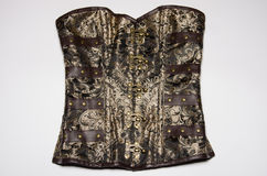 Brown steampunk corset Royalty Free Stock Photography