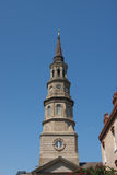 Brown Steeple Under Blue Sky Royalty Free Stock Photography