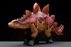 Brown stegosaurus toy Royalty Free Stock Images