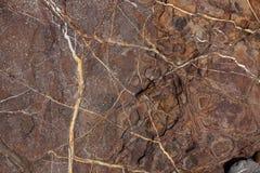 Brown-Stein mit Sprüngen und Flecken Stockbild
