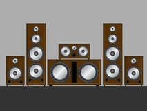 Brown stereo system Stock Photos