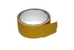 Brown sticky tape. Double sided sticky tape isolated on white background Royalty Free Stock Images