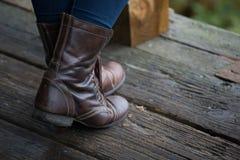 Brown-Stiefel Stockbilder