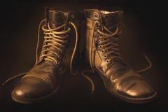 Brown-Stiefel Lizenzfreies Stockfoto