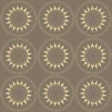 Brown-stilisiert Blumenmuster Lizenzfreies Stockfoto