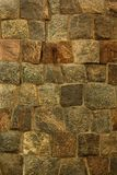 Brown stone block ancient fort wall  texture background Stock Image