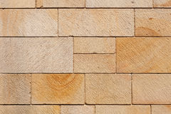 Brown Stone Blocks Wall Stock Photo
