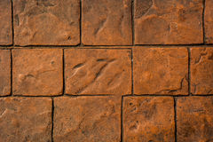 Brown stone brick wall. Background royalty free stock images