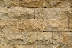The brown stone bricks wall texture background Royalty Free Stock Image