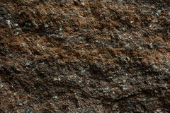 Brown stone with cracks on the surface Royalty Free Stock Image
