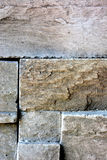 Brown stone decoration. Brown stone wall outdoor decoration Royalty Free Stock Images