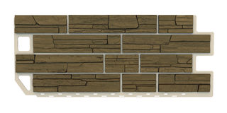 Brown Stone facade panel Royalty Free Stock Photography