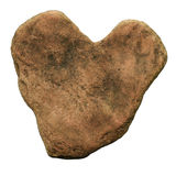 Brown stone heart Royalty Free Stock Photos