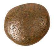 Brown stone isolated on white background. Garden stones for decoration on pathway.  Clipping path. Brown stone isolated on white background. Garden stones for royalty free stock photos