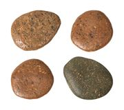 Brown stone isolated on white background. Garden stones for decoration on pathway.  Clipping path. Stones royalty free stock photos