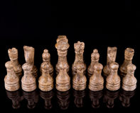 Brown Stone Made Chess Set II Royalty Free Stock Photos