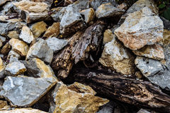 Brown Stone on the mountain Royalty Free Stock Image